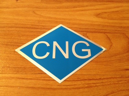 CNG Decal